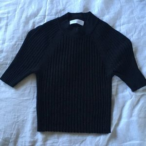 Everlane Ribbed Sweater Crop Top